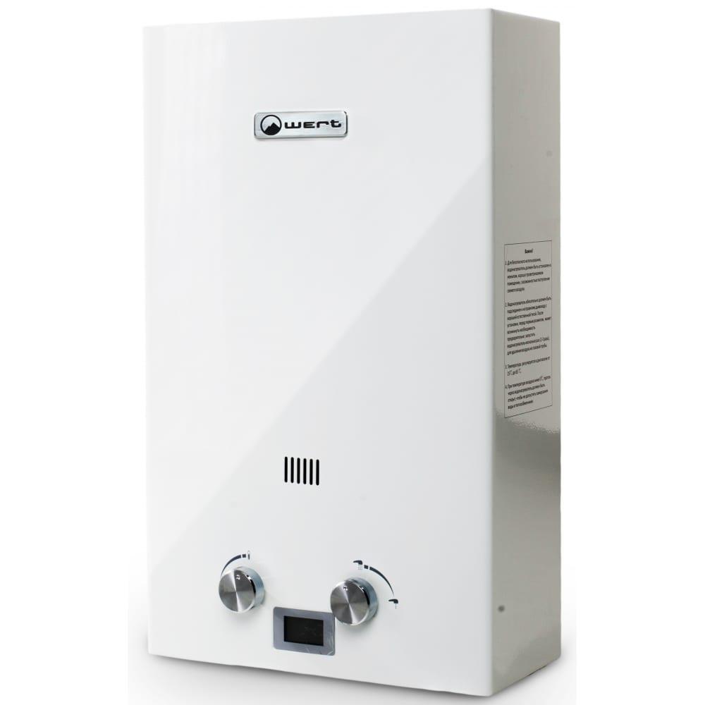 Газовый проточный водонагреватель wert 10e white