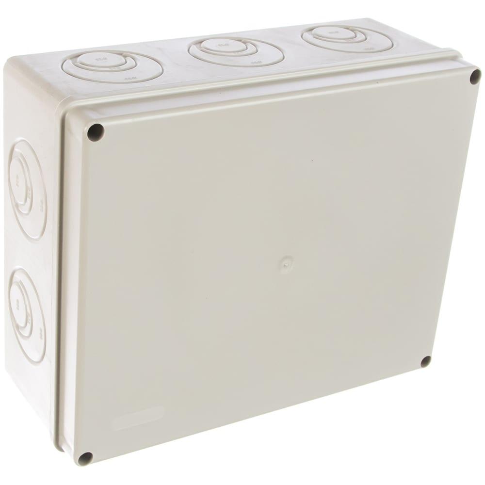 Распаячная коробка с крышкой оп 240х195х90мм, ip44, кабельные ввода d28-3 шт, d37-2 шт tdm sq1401-1271