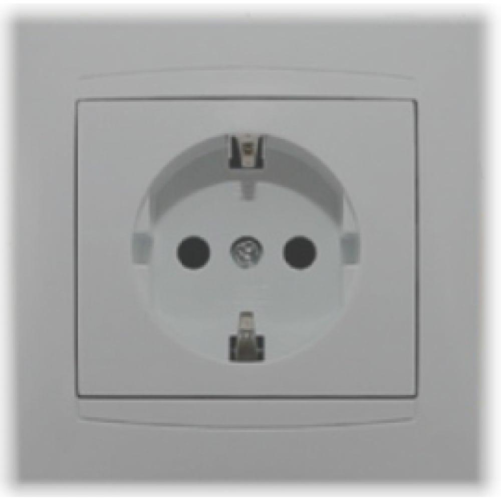 Розетка с защитной шторкой серебристый металлик 2п+з 16а 250в tdm лама sq1815-0211