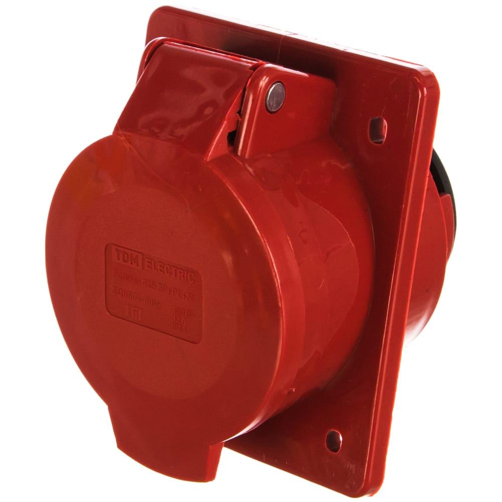 Стационарная розетка для скрытой установки 425 3р+ре+n 32а 380в ip44 tdm sq0604-0016