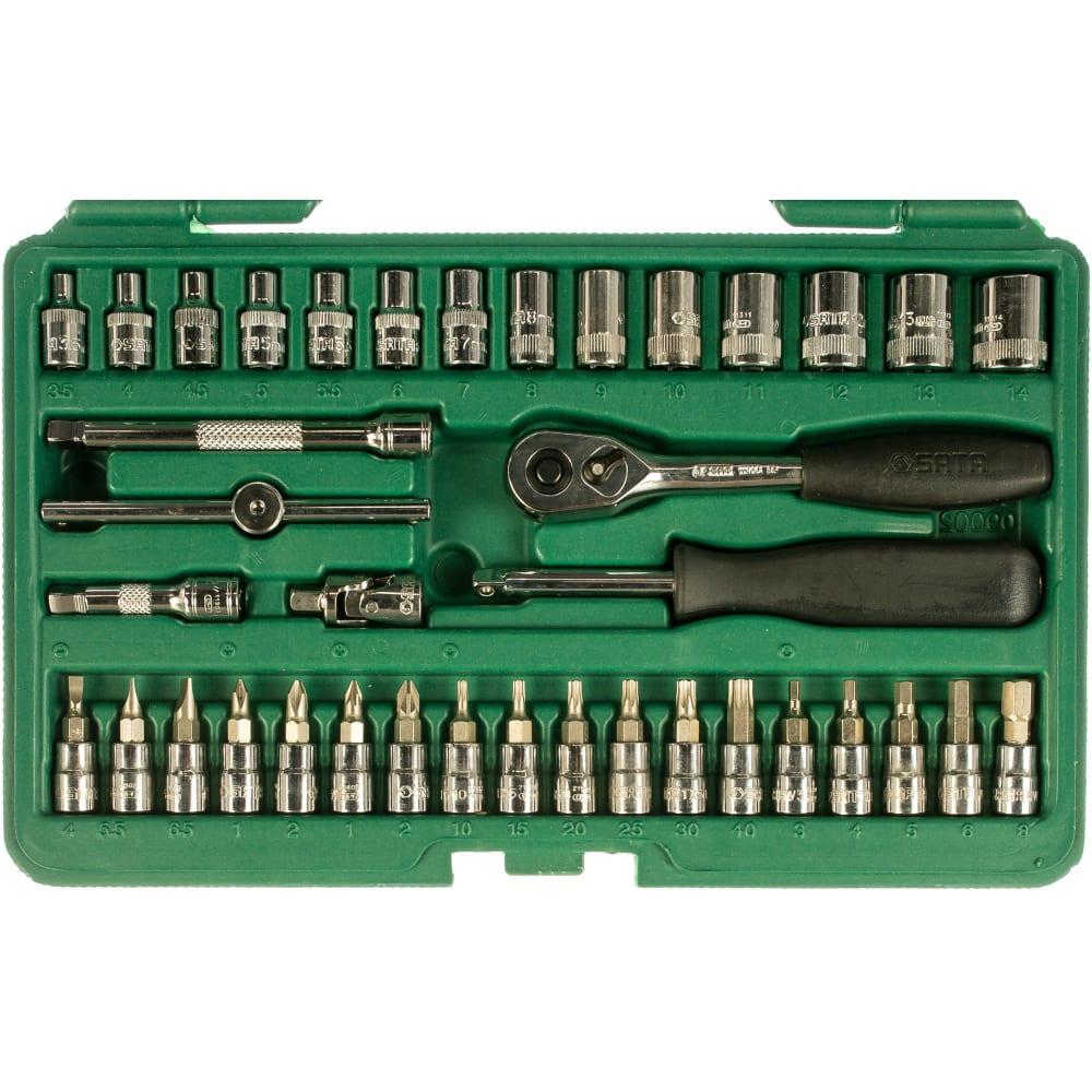 Набор инструмента для автомобиля 38 шт 1/4 dr sata 09002.