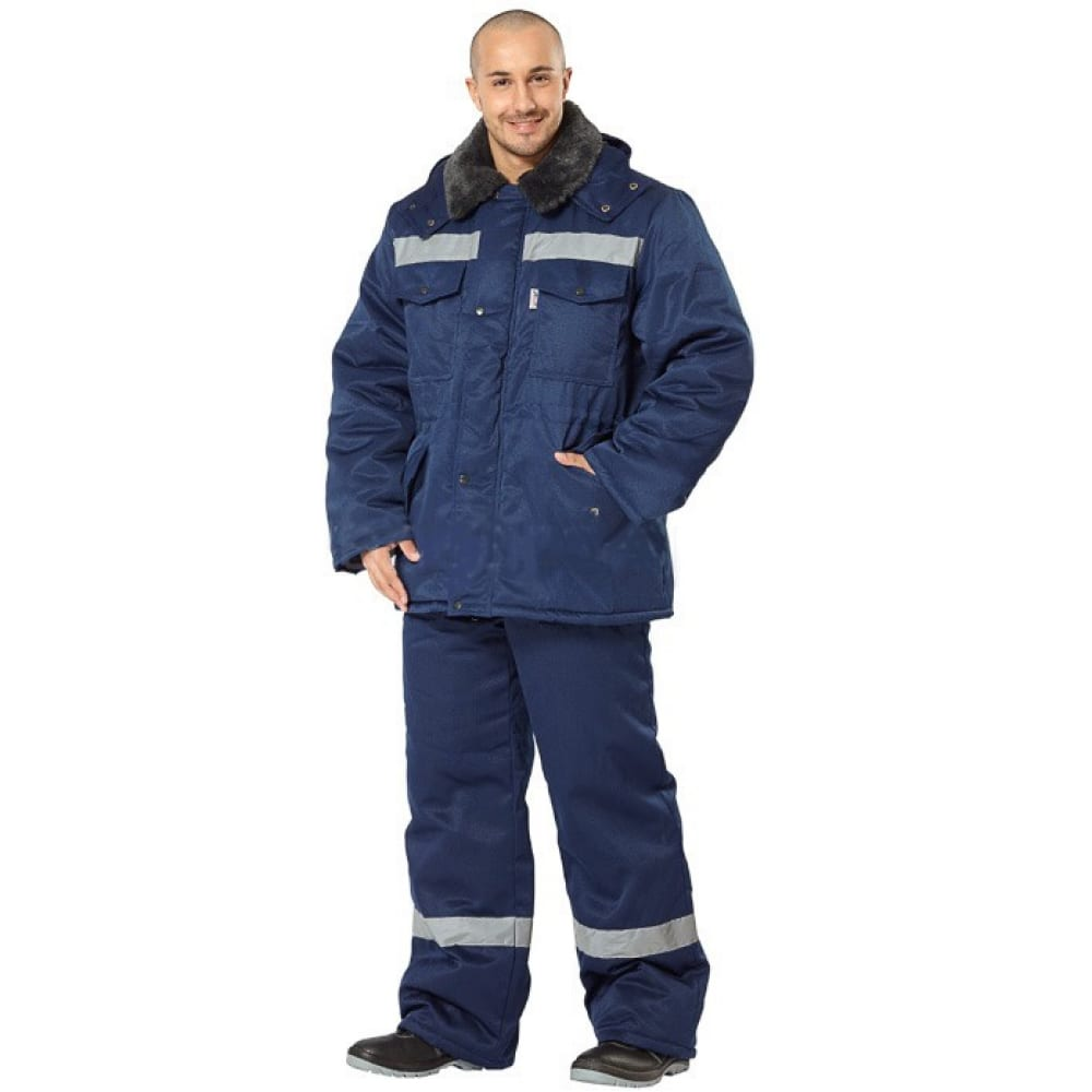 Утепленный брючный костюм авангард-спецодежда мастер ультра темно-синий, р.120-124, рост 182-188 157357Рабочие костюмы<br>Вес: 2.8 кг;<br>Тип: мужской брючный ;<br>Цвет: темно-синий ;<br>Max температура: -41 °С;<br>Ткань: смесовая ;<br>Плотность ткани: 210 г/кв.м;<br>Размер: 60-62 ;<br>Рост: 182-188 см;<br>Пропитка: водоотталкивающая ;<br>Капюшон: есть ;<br>Тип застежки: молния ;<br>ГОСТ\ТУ: ГОСТ Р 12.4.236-2011 ;<br>Единиц в упаковке: 1 шт;<br>Защитные свойства: от пониженных температур воздуха и ветра, от истирания, от общих загрязнений ;<br>Утеплитель: синтепон ;<br>Международный размер: 5XL (60-62) ;<br>Светоотражающие элементы: есть ;<br>Сигнальный: нет ;