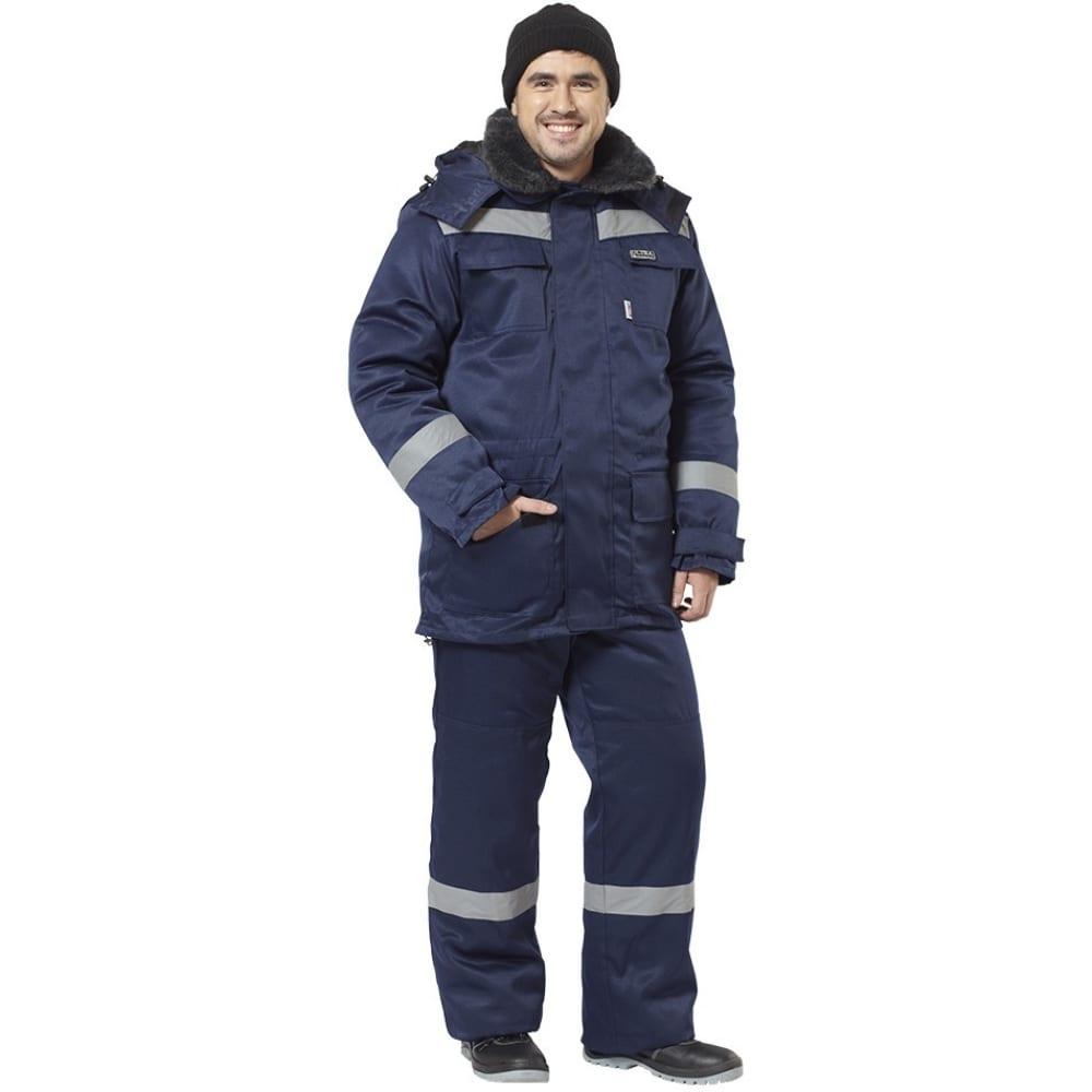 Утепленный костюм авангард-спецодежда гермес ультра темно-синий, р.104-108, рост 182-188 157342Рабочие костюмы<br>Вес: 2.8 кг;<br>Тип: мужской брючный ;<br>Цвет: темно-синий ;<br>Max температура: -41 °C;<br>Ткань: смесовая ;<br>Плотность ткани: 210 г/кв.м;<br>Размер: 52-54 ;<br>Рост: 182-188 см;<br>Пропитка: водоотталкивающая ;<br>Капюшон: есть ;<br>Тип застежки: молния ;<br>ГОСТ\ТУ: ГОСТ Р 12.4.236-2011 ;<br>Единиц в упаковке: 1 шт.;<br>Защитные свойства: от пониженных температур воздуха и ветра, от истирания, от общих загрязнений ;<br>Утеплитель: синтепон ;<br>Международный размер: XL (52-54) ;<br>Светоотражающие элементы: есть ;<br>Сигнальный: нет ;