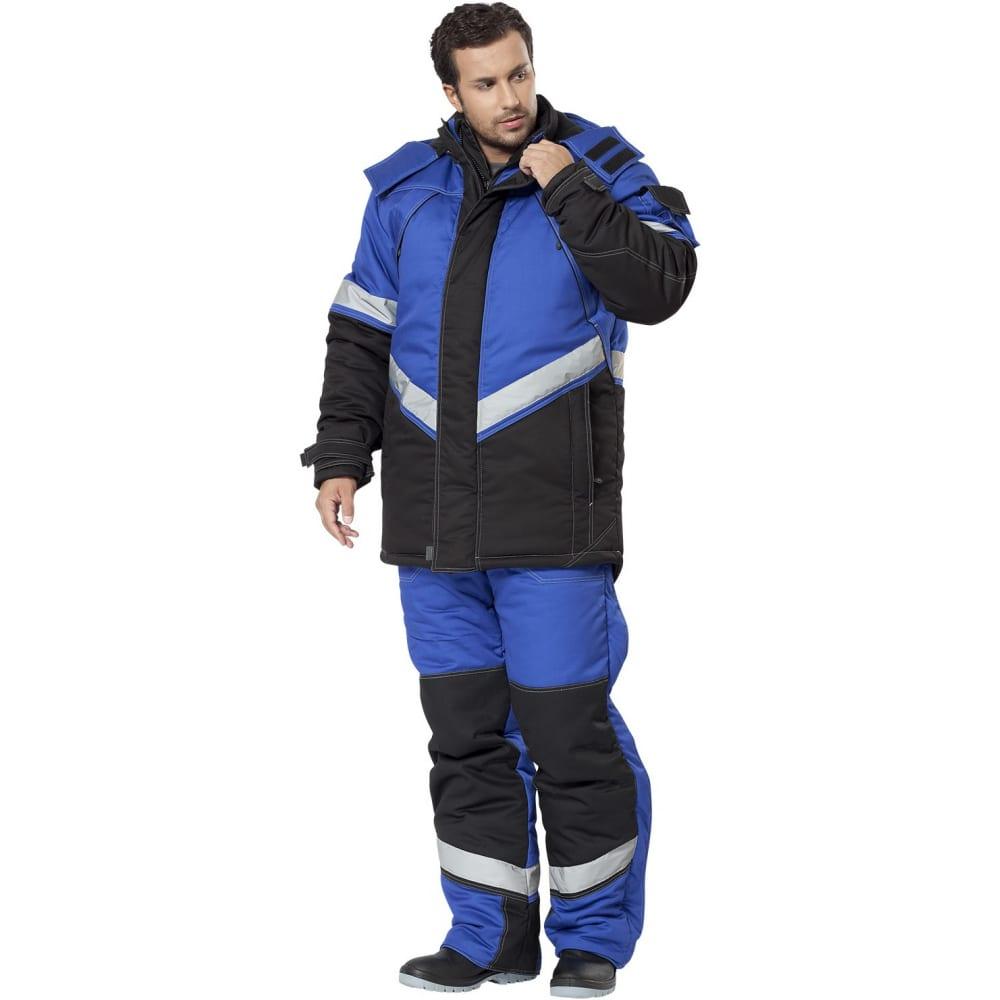 Утепленный костюм авангард-спецодежда каскад васильковый/черный, р.120-124, рост 182-188 500037Рабочие костюмы<br>Вес: 3.52 кг;<br>Тип: мужской с полукомбинезоном ;<br>Цвет: васильковый/черный ;<br>Max температура: -25 °C;<br>Ткань: смесовая ;<br>Плотность ткани: 210 г/кв.м;<br>Размер: 60-62 ;<br>Рост: 182-188 см;<br>Капюшон: есть ;<br>Тип застежки: молния ;<br>ГОСТ\ТУ: ГОСТ Р 12.4.236-2011 ;<br>Единиц в упаковке: 1 шт.;<br>Защитные свойства: от пониженных температур воздуха и ветра, от истирания, от общих загрязнений ;<br>Утеплитель: шелтер, синтепон ;<br>Международный размер: 5XL (60-62) ;<br>Светоотражающие элементы: есть ;<br>Сигнальный: нет ;