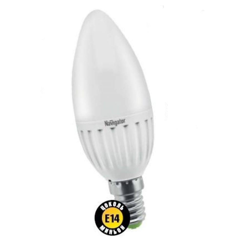 Светодиодная лампа navigator 94 482 nll-p-c37-5-230-4k-e14-fr 4607136944824 286604  - купить со скидкой