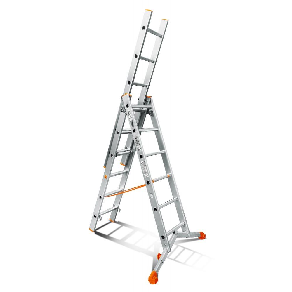 Трехсекционная лестница эйфель ювелир 3х6