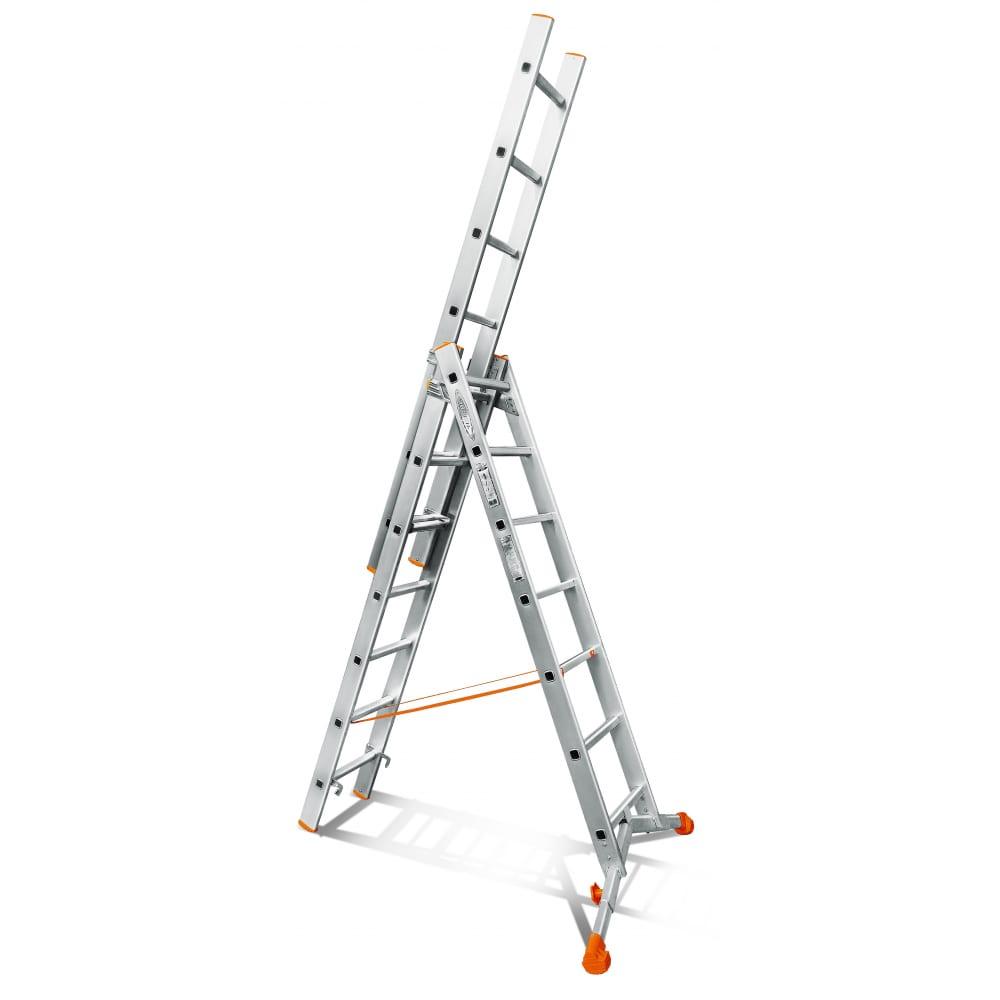 Трехсекционная лестница эйфель ювелир 3х7