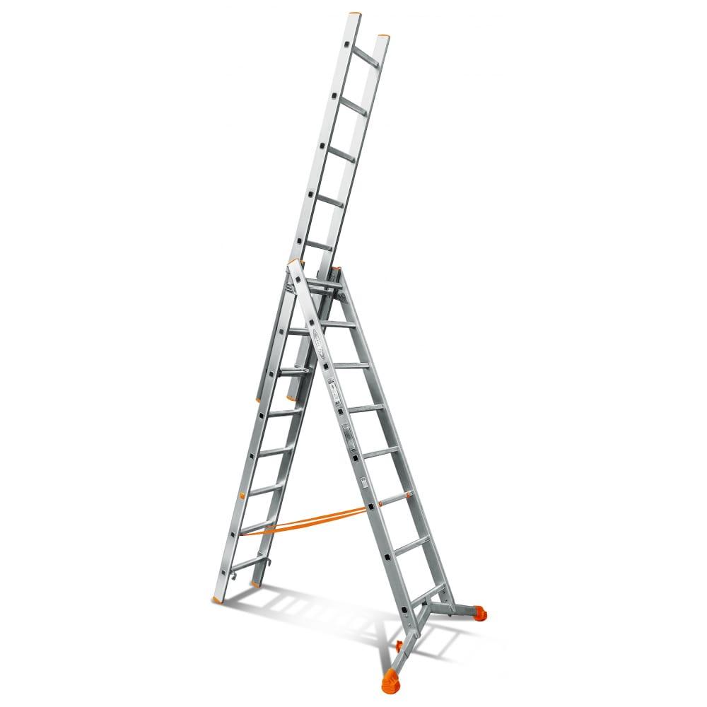 Трехсекционная лестница эйфель ювелир 3х8