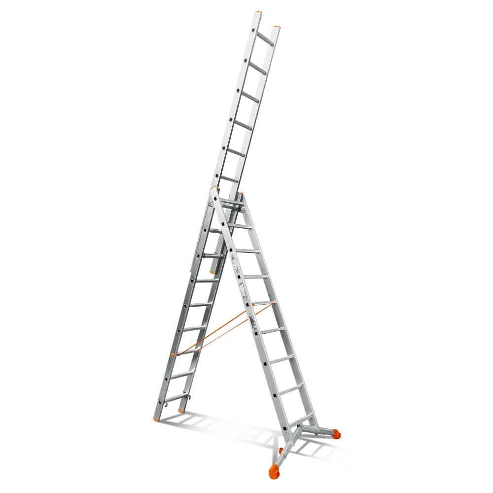 Трехсекционная лестница эйфель ювелир 3х9
