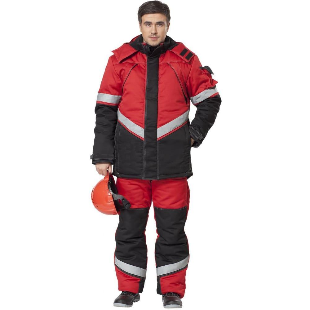 Утепленный костюм авангард-спецодежда каскад красный/черный, р. 104-108, рост 170-176 500824Рабочие костюмы<br>Вес: 3.26 кг;<br>Тип: мужской с полукомбинезоном ;<br>Цвет: красный/черный ;<br>Max температура: -25 °C;<br>Ткань: смесовая ;<br>Плотность ткани: 210 г/кв.м;<br>Размер: 52-54 ;<br>Рост: 170-176 см;<br>Капюшон: есть ;<br>Тип застежки: молния ;<br>ГОСТ\ТУ: ГОСТ Р 12.4.236-2011 ;<br>Единиц в упаковке: 1 шт.;<br>Защитные свойства: от пониженных температур воздуха и ветра, от истирания, от общих загрязнений ;<br>Утеплитель: шелтер, синтепон ;<br>Международный размер: XL (52-54) ;<br>Светоотражающие элементы: есть ;<br>Сигнальный: нет ;