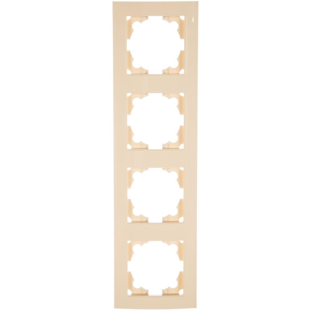 Четырехместная горизонтальная рамка, слоновая кость universal бриллиант 7948721  - купить со скидкой