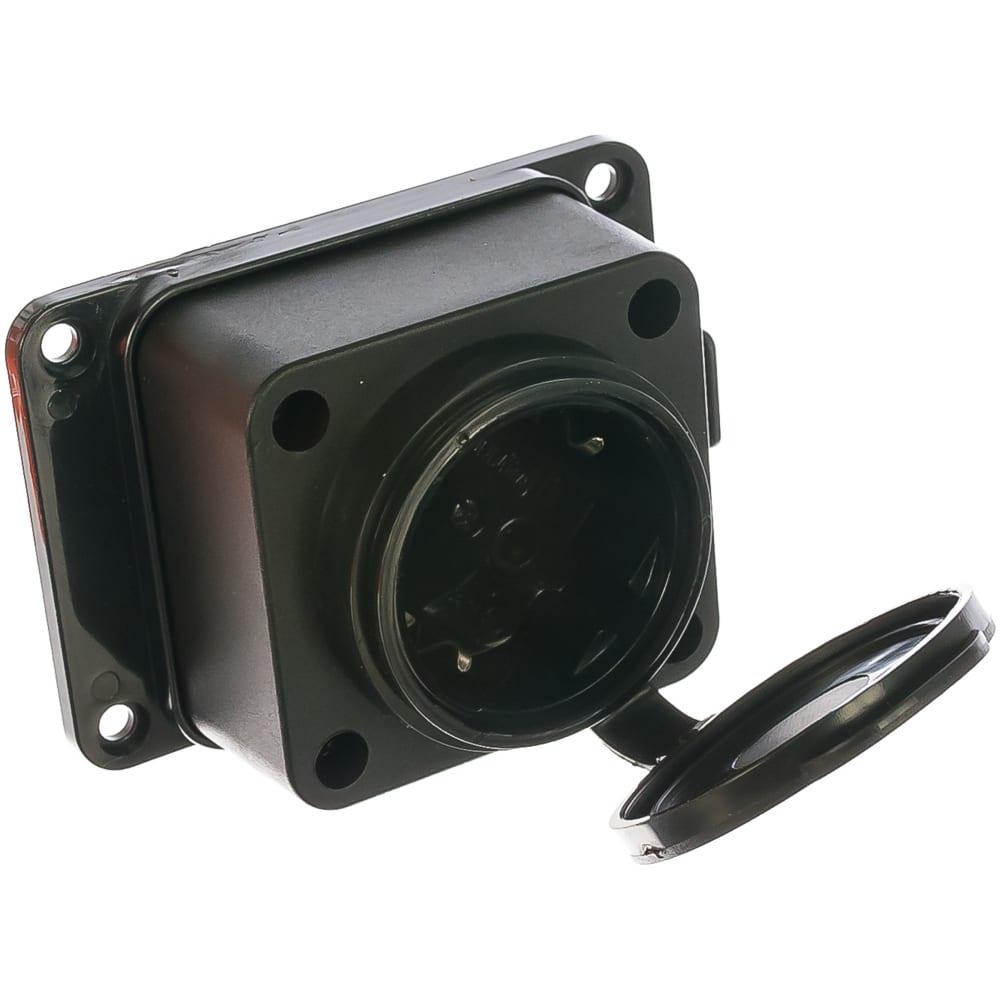 Настенная однофазная каучуковая розетка с заглушкой universal 602229