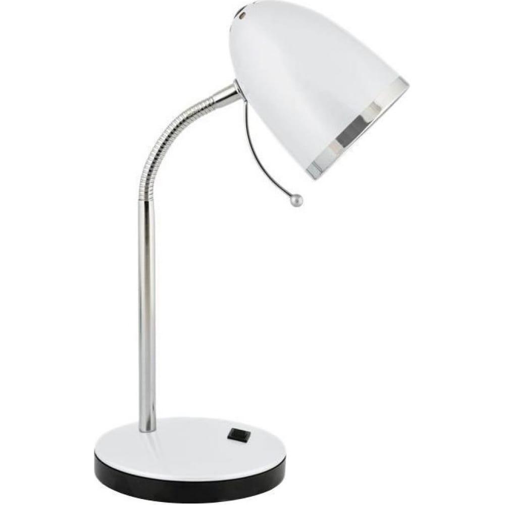 Настольный светильник, белый 230v 40w e27 camelion kd-308 c01 11476