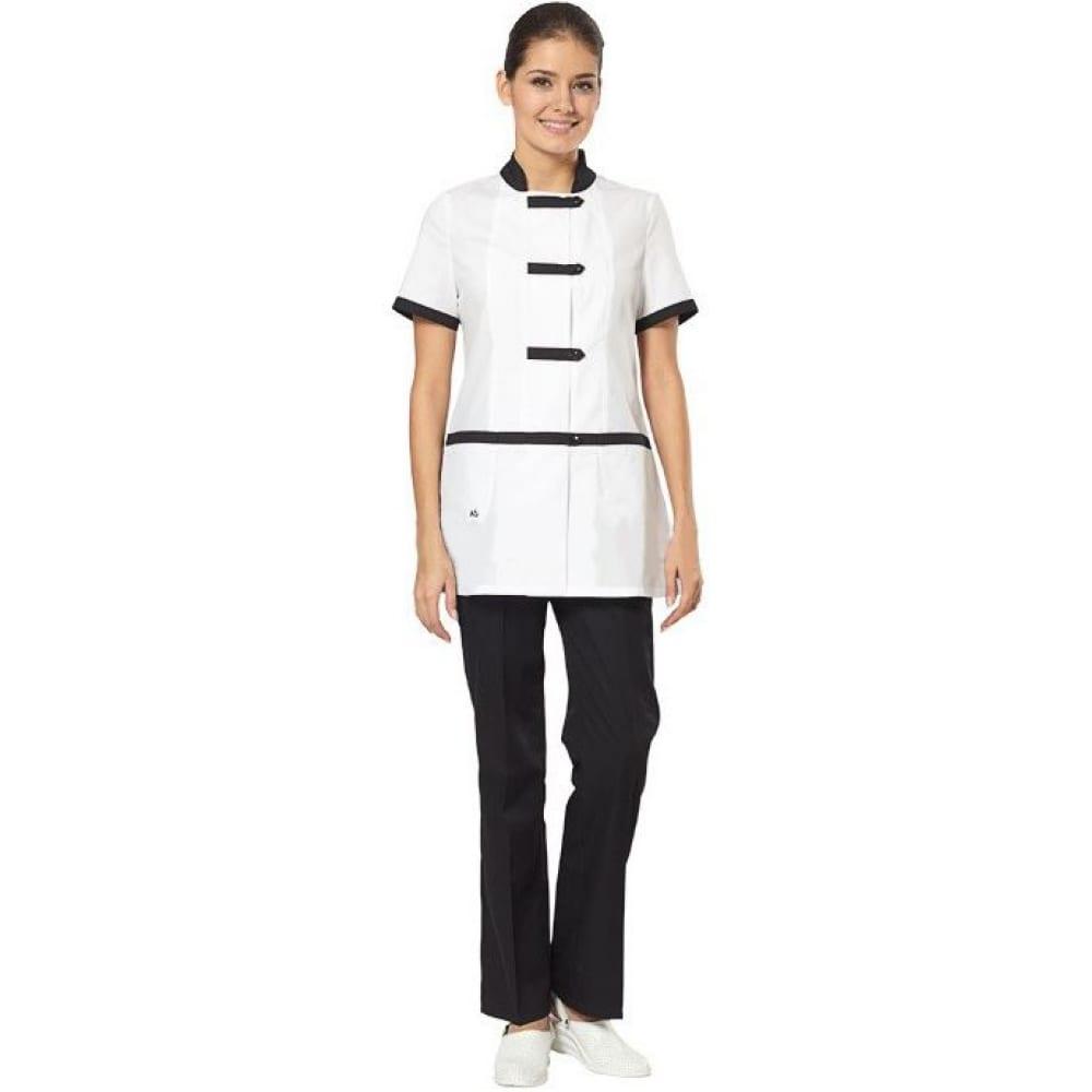 Купить Женский костюм повара авангард-спецодежда азия белый/черный, р.96-100, рост 170-176 81405