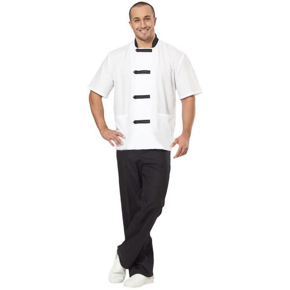 Мужской костюм повара авангард-спецодежда азия белый/черный, р.88-92, рост 182-188 81416