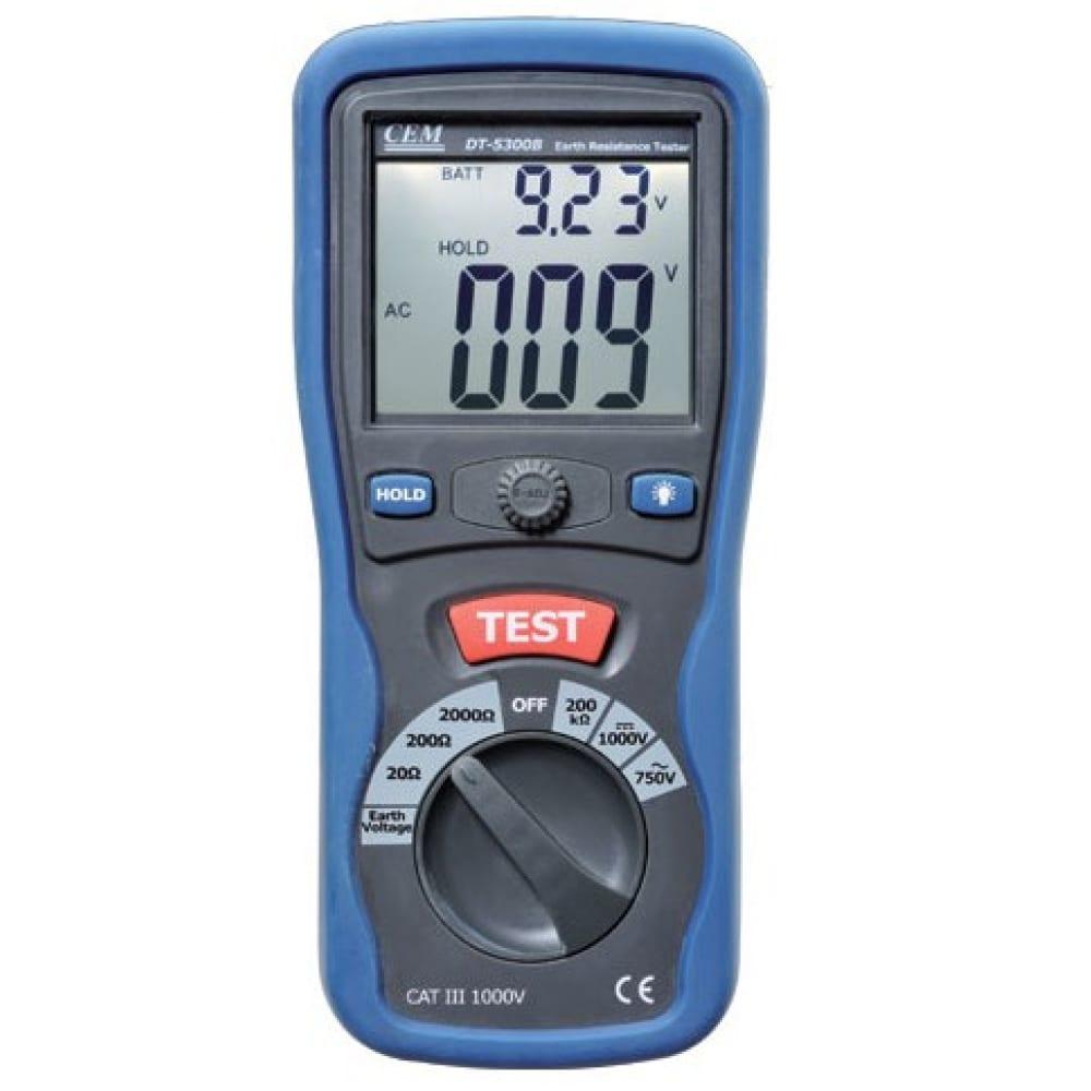 Измеритель сопротивления заземления сем dt-5300b 482025