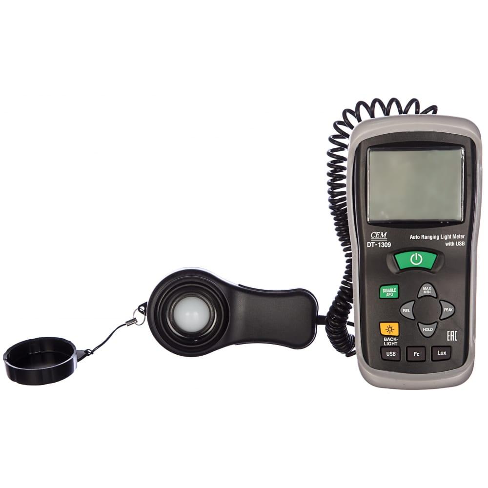 Измеритель уровня освещения (люксметр) сем dt-1309 481646