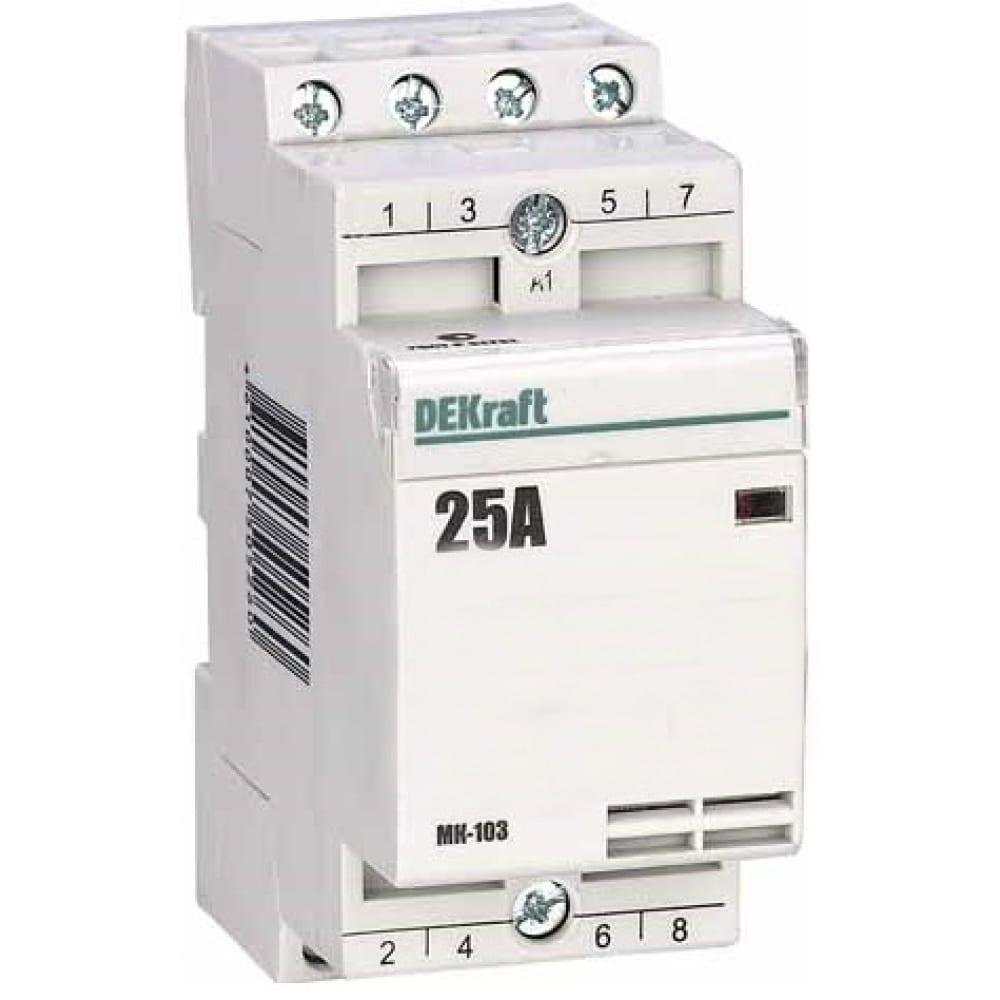 Контактор модульный dekraft мк103-025a-230b-11 1но+1нз 18065dek 1113383.