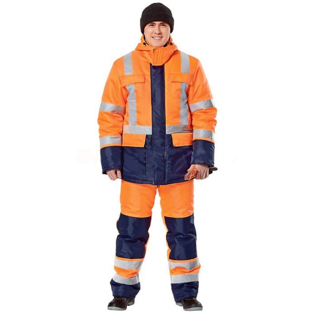 Утепленный костюм авангард-спецодежда альянс р.104-108, рост 170-176 70381Рабочие костюмы<br>Вес: 1.94 кг;<br>Тип: мужской с полукомбинезоном ;<br>Цвет: оранжевый/синий ;<br>Ткань: оксфорд ;<br>Состав ткани: 100% полиэфир ;<br>Плотность ткани: 210 г/кв.м;<br>Размер: 52-54 ;<br>Рост: 170-176 см;<br>Капюшон: есть ;<br>Тип застежки: молния ;<br>ГОСТ\ТУ: ГОСТ Р 12.4.236-2011, ГОСТ 12.4.219-99 (3 класс) ;<br>Единиц в упаковке: 1 шт.;<br>Защитные свойства: от общих загрязнений, от истирания, от пониженных температур воздуха и ветра ;<br>Утеплитель: синтепон ;<br>Международный размер: XL (52-54) ;<br>Светоотражающие элементы: есть ;<br>Сигнальный: есть ;