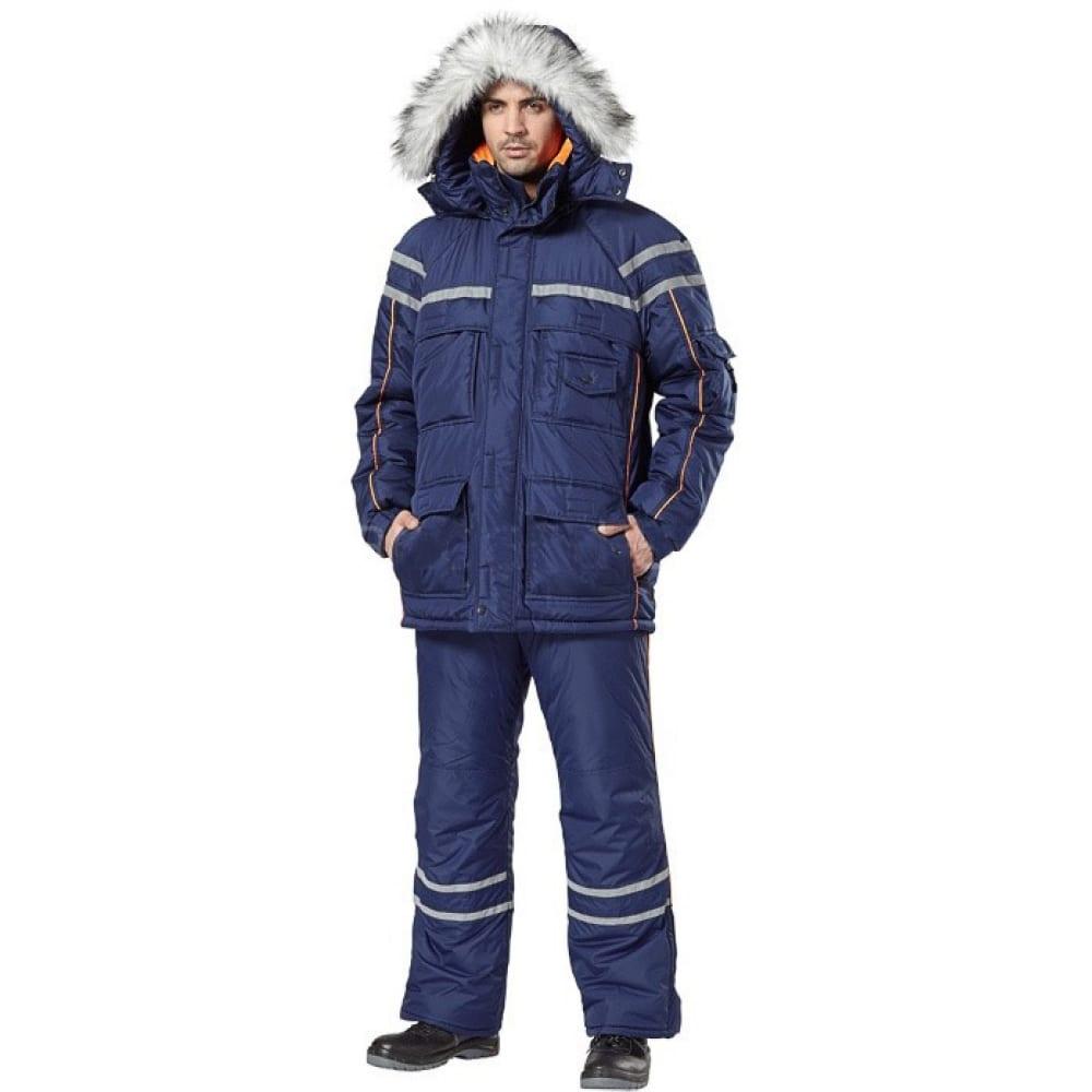 Костюм авангард-спецодежда аляска синий/оранжевый, р.96-100, рост 170-176 73701Рабочие костюмы<br>Вес: 2.5 кг;<br>Тип: мужской брючный ;<br>Цвет: синий/оранжевый ;<br>Max температура: -18 °C;<br>Ткань: Dewspo ;<br>Состав ткани: 100% полиэфир ;<br>Размер: 48-50 ;<br>Рост: 170-176 см;<br>Капюшон: есть ;<br>Тип застежки: молния ;<br>ГОСТ\ТУ: ГОСТ Р 12.4.236-2011 ;<br>Единиц в упаковке: 1 шт.;<br>Защитные свойства: от общих загрязнений, от истирания, от пониженных температур воздуха и ветра ;<br>Утеплитель: синтепон ;<br>Международный размер: M (48-50) ;<br>Светоотражающие элементы: есть ;<br>Сигнальный: нет ;
