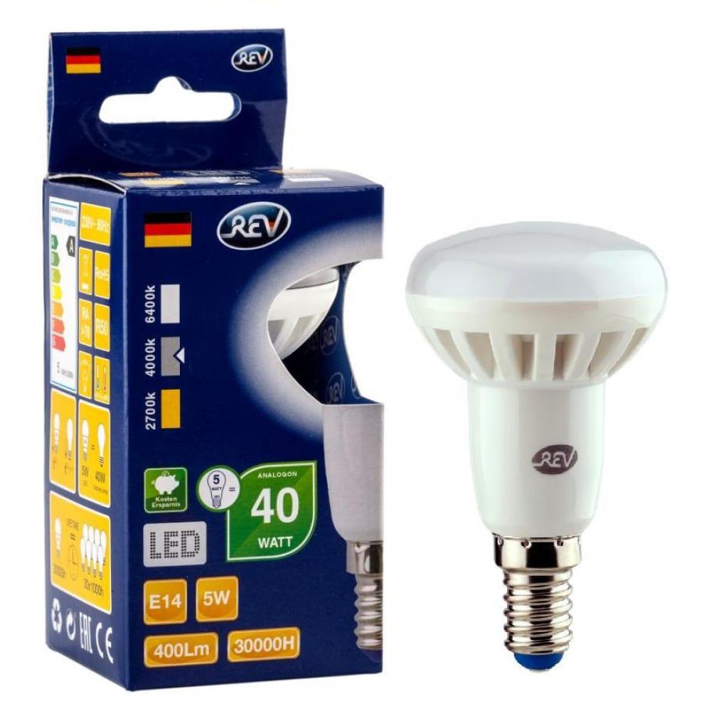 Светодиодная лампа led r50 e14 5вт 4000k rev 32333 4