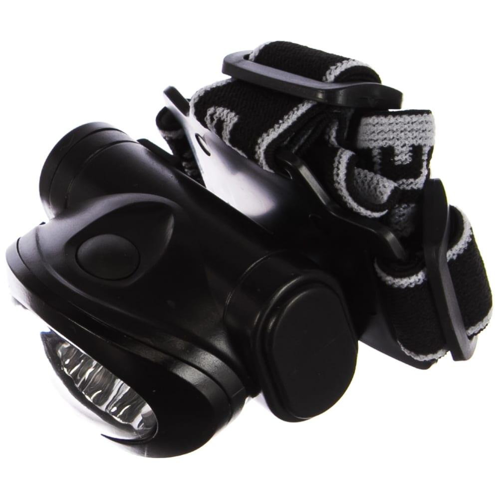 Налобный светодиодный фонарь 10ultra led, матричный рефлектор, 3 режима, 3ааа зубр мастер 56438