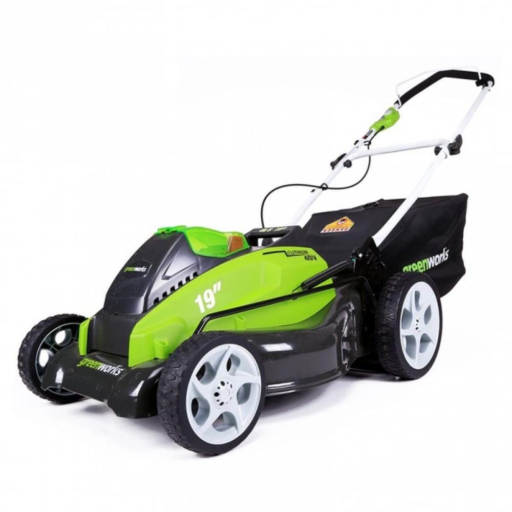Аккумуляторная газонокосилкаgreenworks g40lm45 2500107