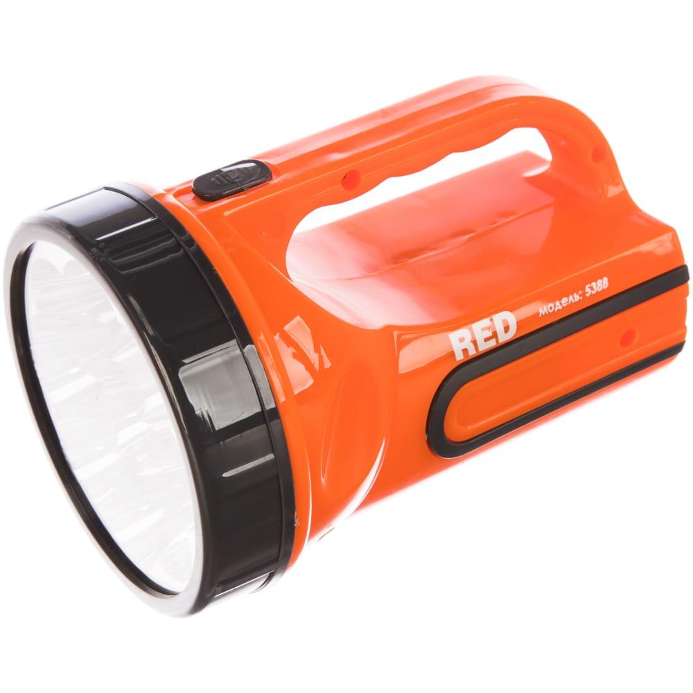 Аккумуляторный фонарь, 9 led, 2 режима 5/9, вилка 220в красная цена 5388 4606400606918