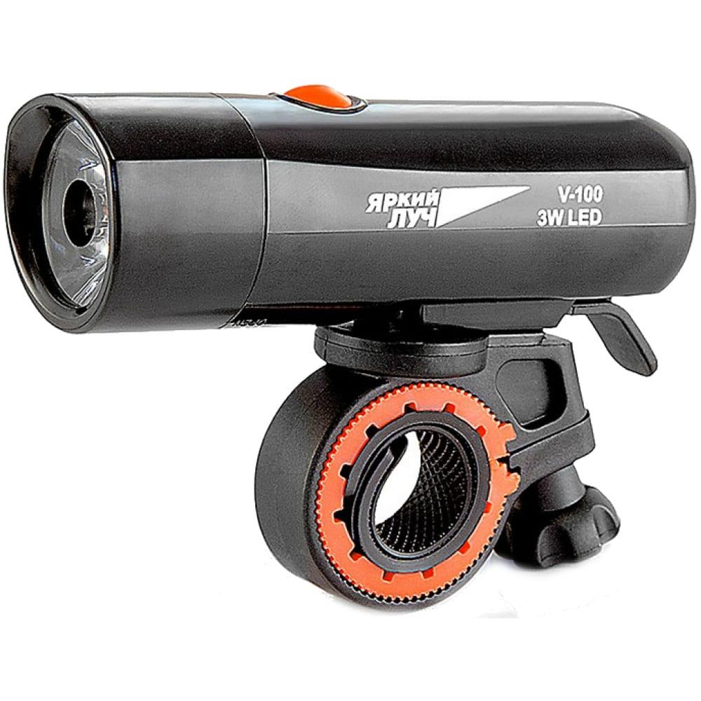 Велосипедный фонарь led 3w, 3 режима, 4xaaa яркий луч v-100 4606400615422