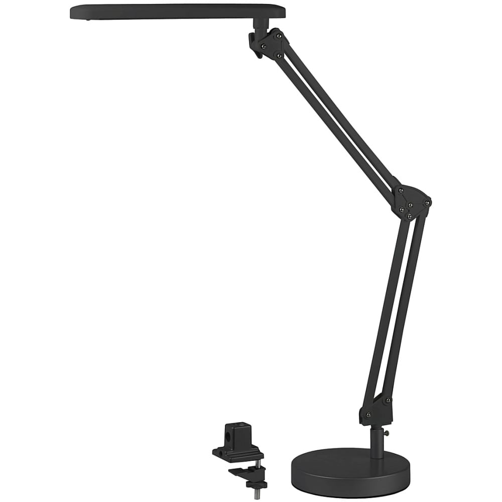 Настольный светильник, черный эра nled-440-7w-bk б0008000