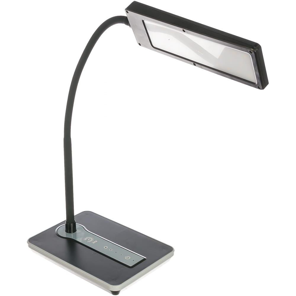 Настольный светильник, черный эра nled-446-9w-bk б0017431