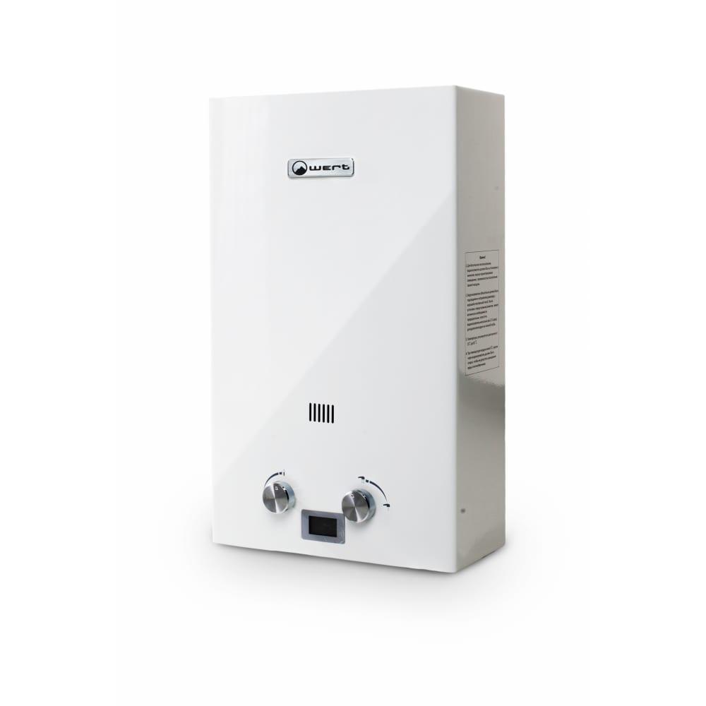 Газовый проточный водонагреватель wert 16e white