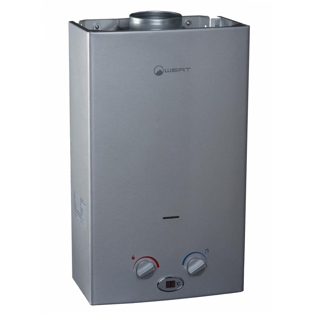 Газовый проточный водонагреватель wert 10lc серый