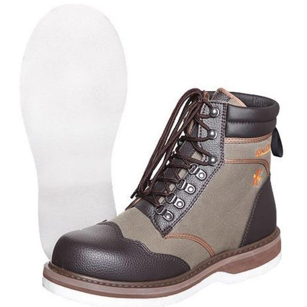 Забродные ботинки norfin whitewater boots р.46 91245-46Ботинки<br>Материал верха: полиэстер + ПВХ ;<br>Размеры: 46 ;<br>Защитные свойства: от промокания ;<br>Подносок: укрепленный ;<br>Подошва: ЭВА, искусственный войлок ;<br>Высота: ботинки (средние) ;<br>Вес модели: 1.76 кг;<br>Серия: WHITEWATER BOOTS ;