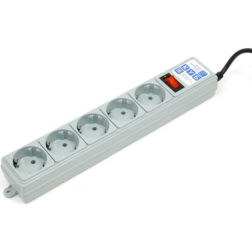 Купить Фильтр-удлинитель b 5м 5роз. серый power cube spg-b-15