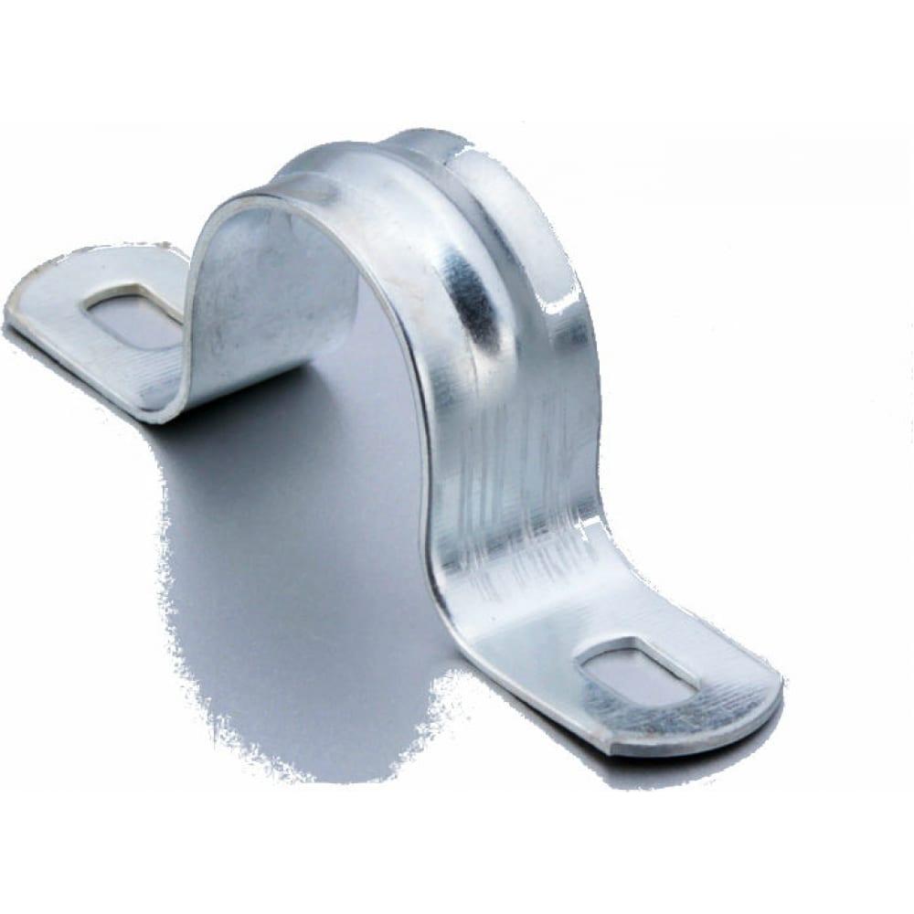 Металлическая двухлапковая скоба fortisflex смд 14-15 49373  - купить со скидкой