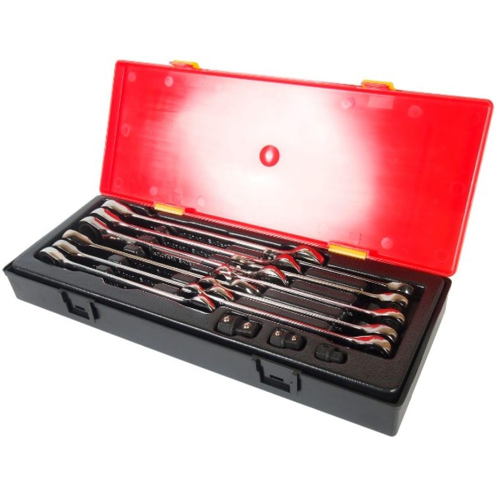 Купить Набор комбинированных трещоточных ключей 8-19мм в кейсе 14шт jtc-k6141