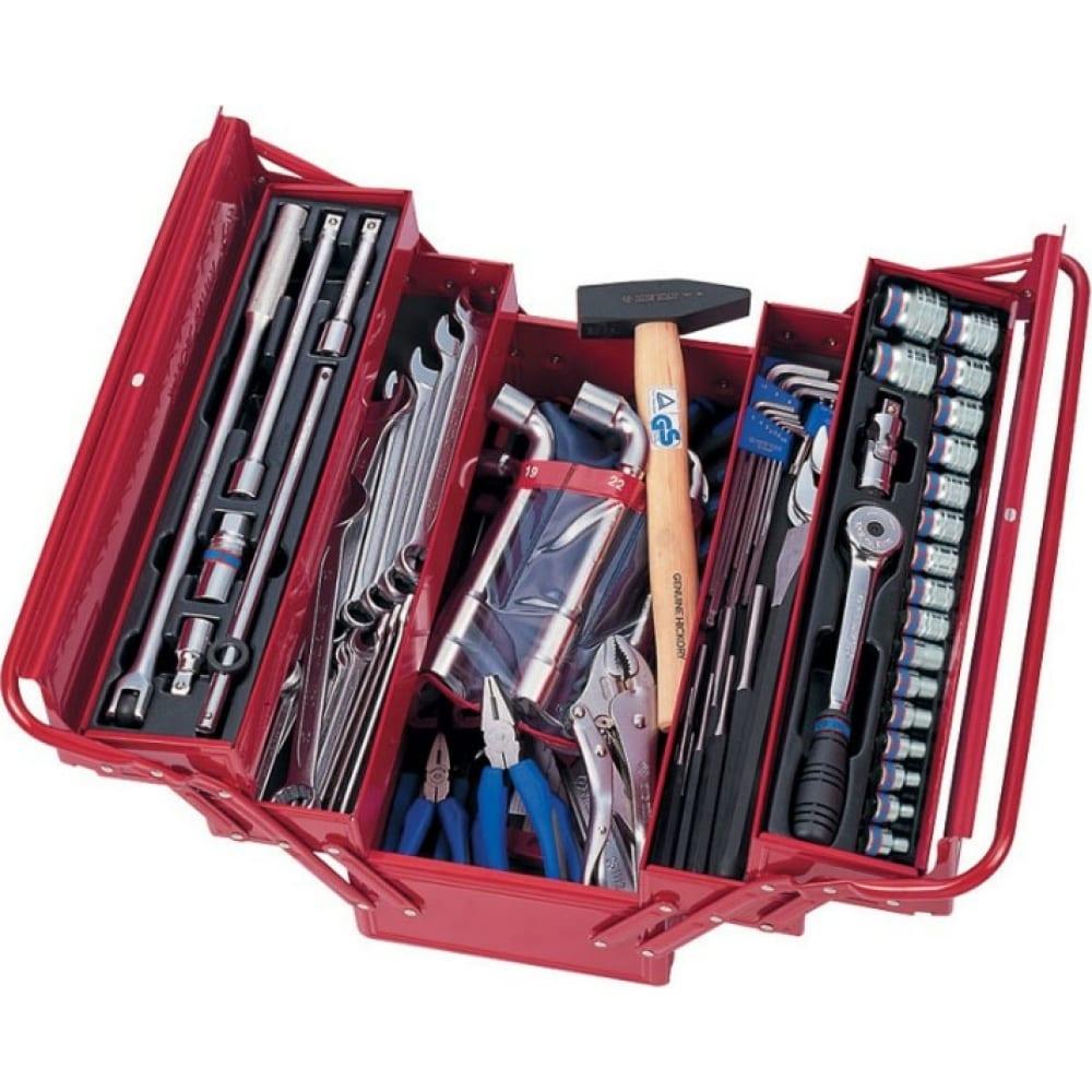 Универсальный набор инструментов (раскладной ящик, 103 предмета) king tony 902-103mr