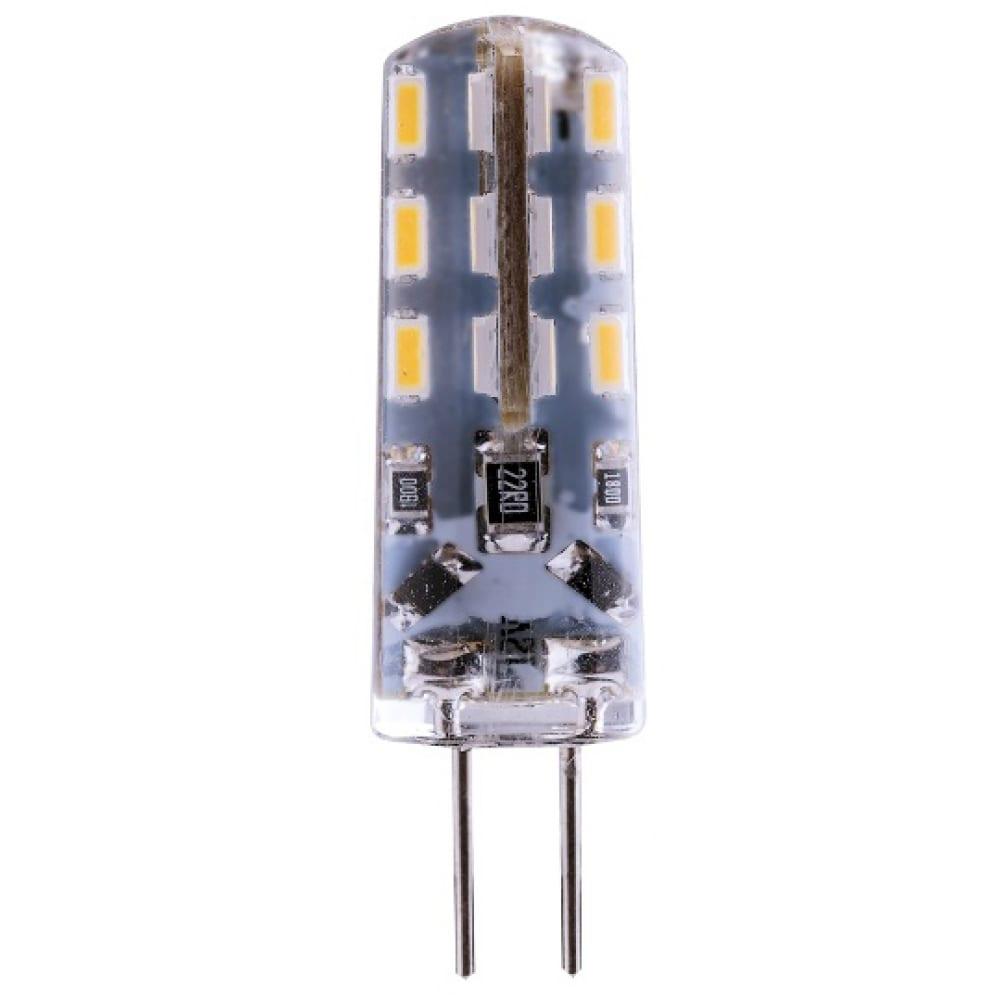 Светодиодная лампа led jc g4 1.6w 120лм, 4000k, холодный свет rev 32366 2