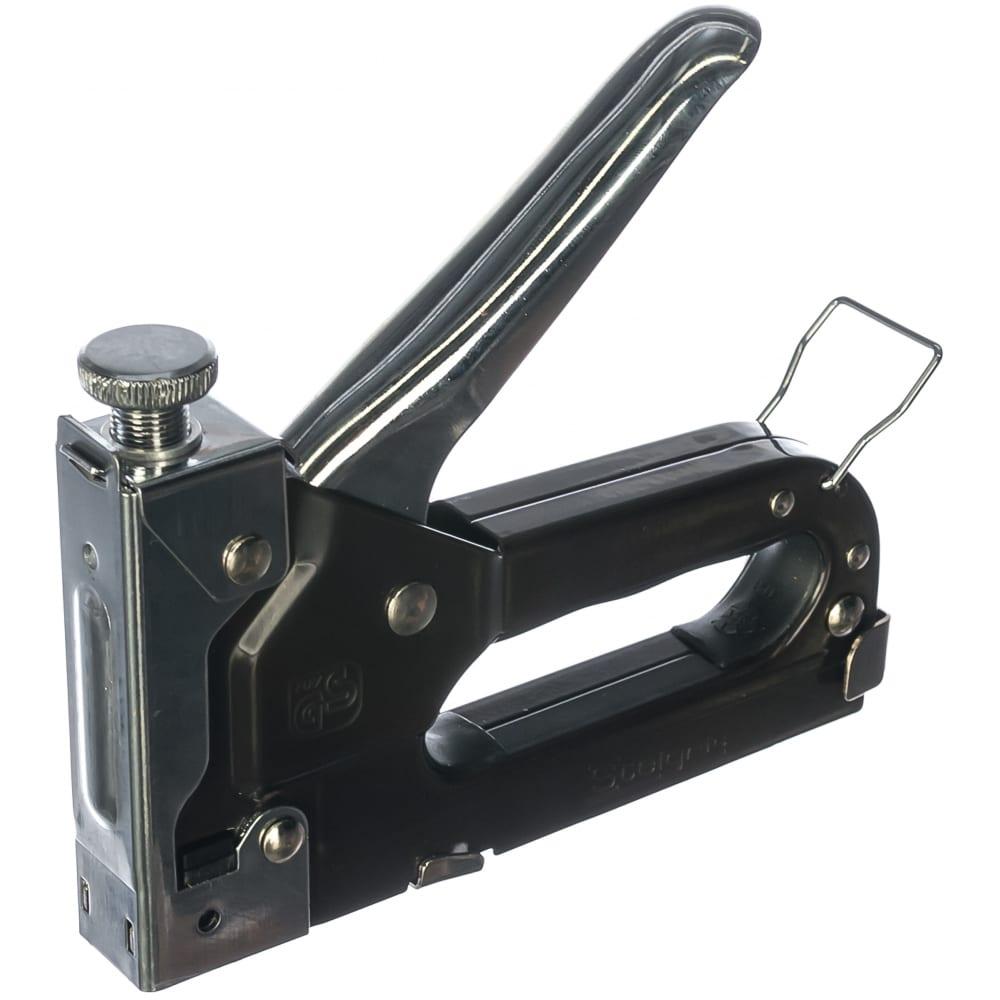 Мебельный степлер stelgrit для скоб 4-14x0,7 мм 643103