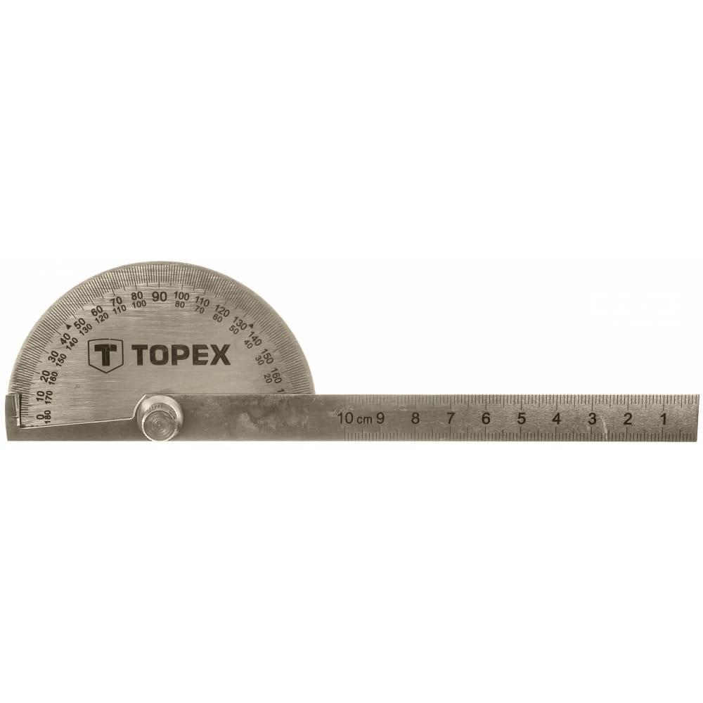 Угломер с линейкой topex 100 мм 31c700