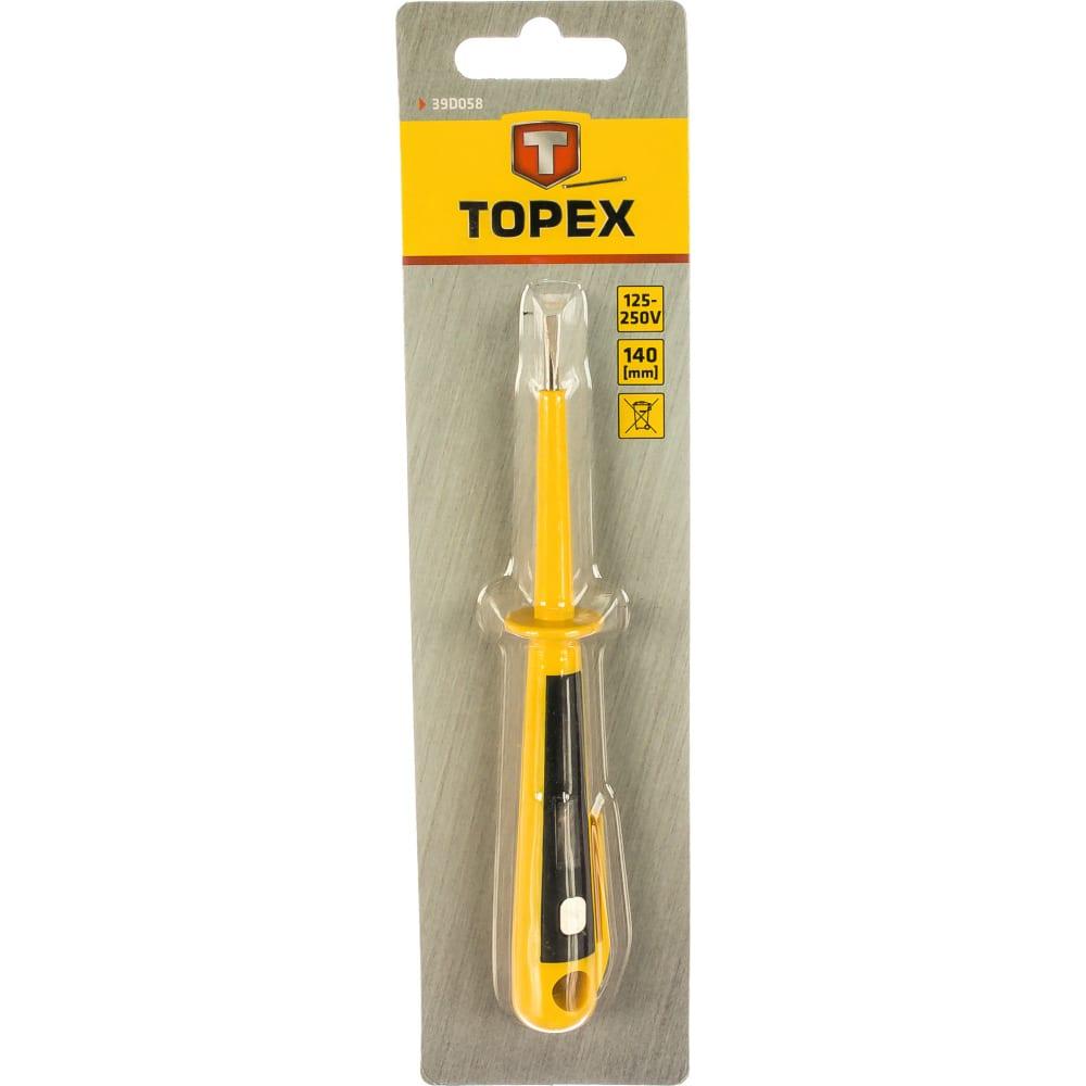Индикатор напряжения topex 125-250 в, 140 мм 39d058
