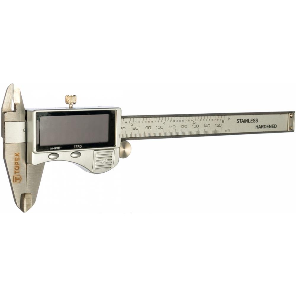 Электронный штангенциркуль 150 мм topex 31c624