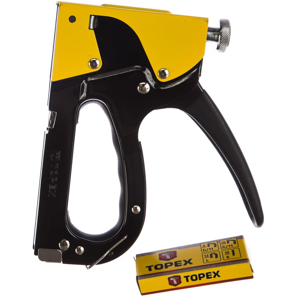 Степлер 6-14 мм для скоб типа g, l, e topex 41e910