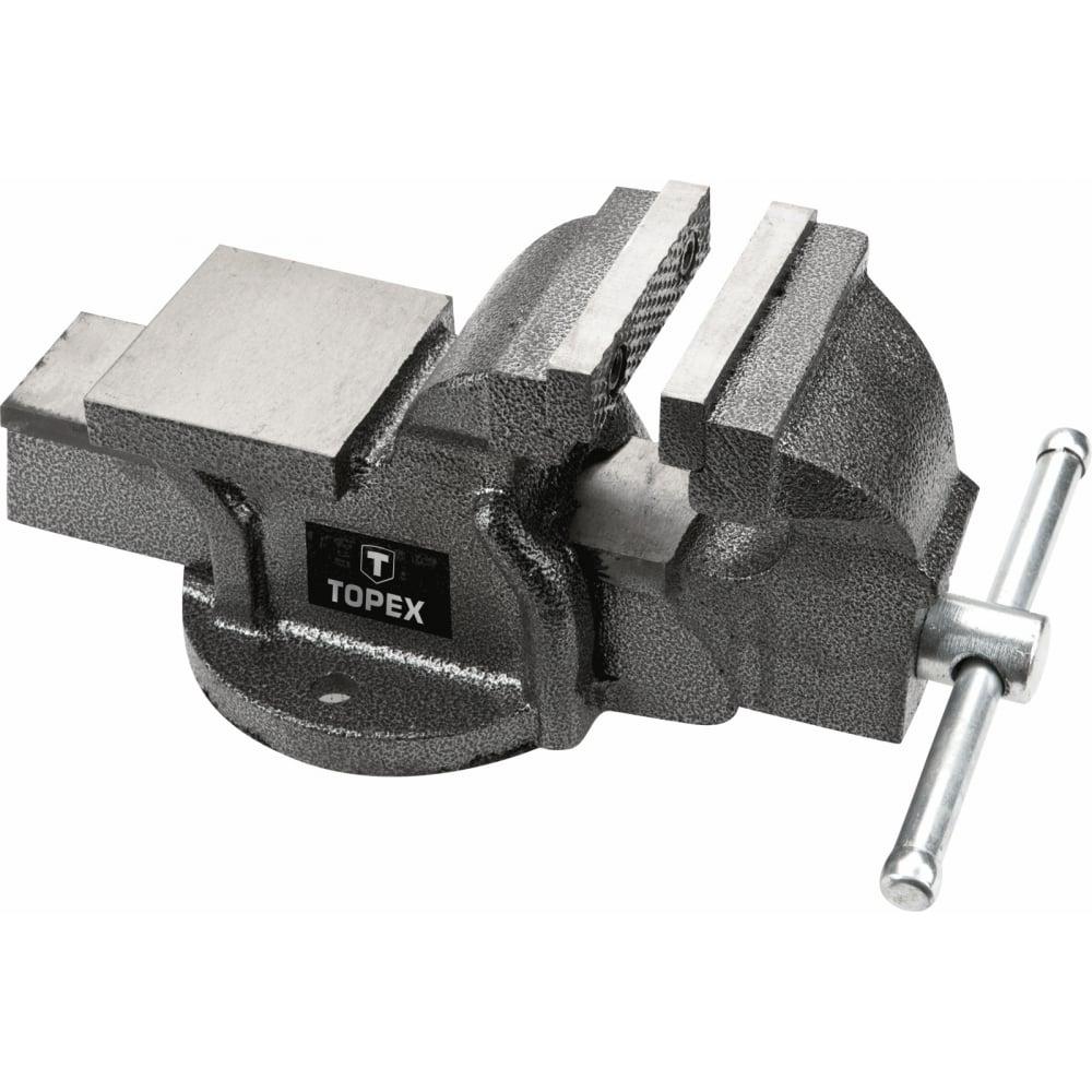 Слесарные тиски с наковальней topex 07a112