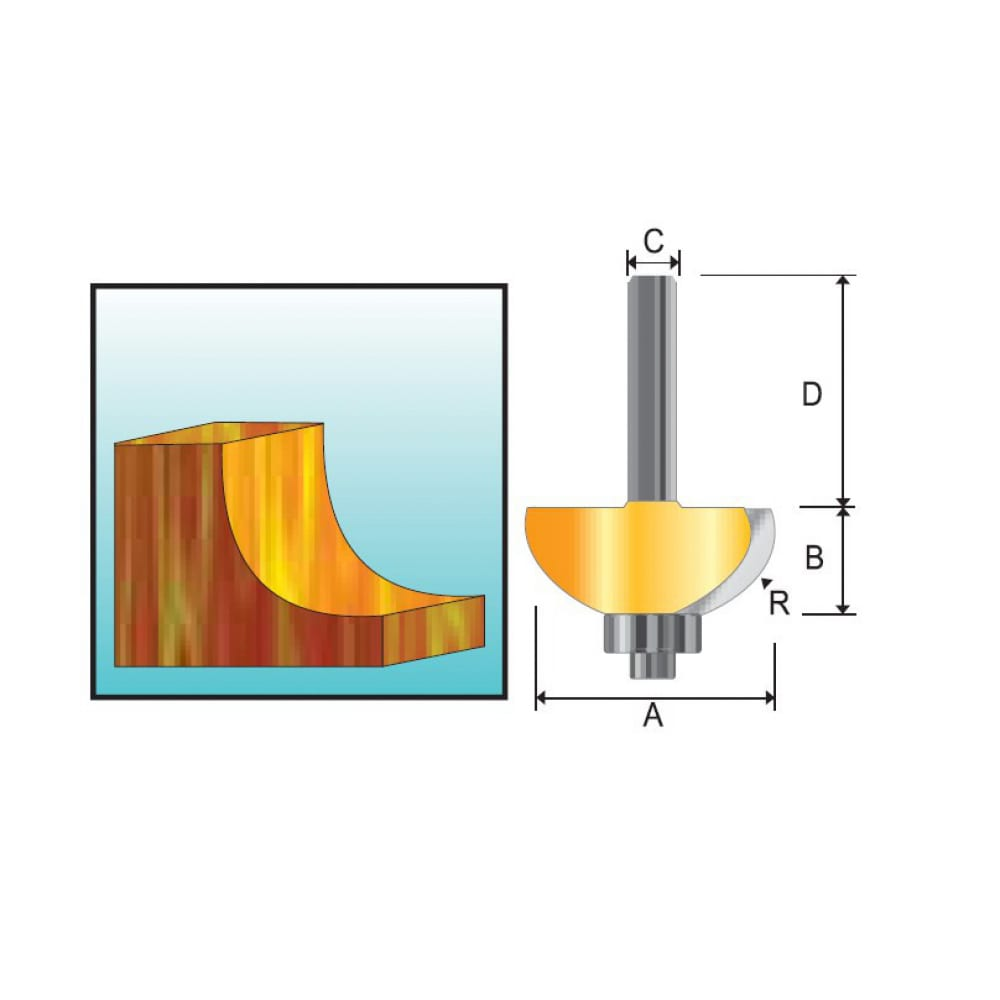 Фреза кромочная галтельная (17.5х9.5х8х32 мм) makita
