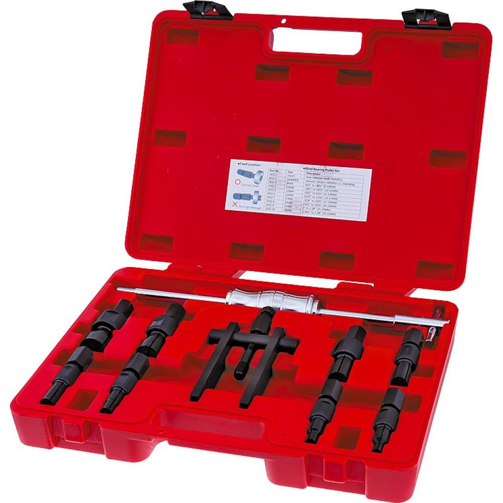 Купить Набор - цанговый съемник подшипников с обратным молотком станкоимпорт ka-2124kh