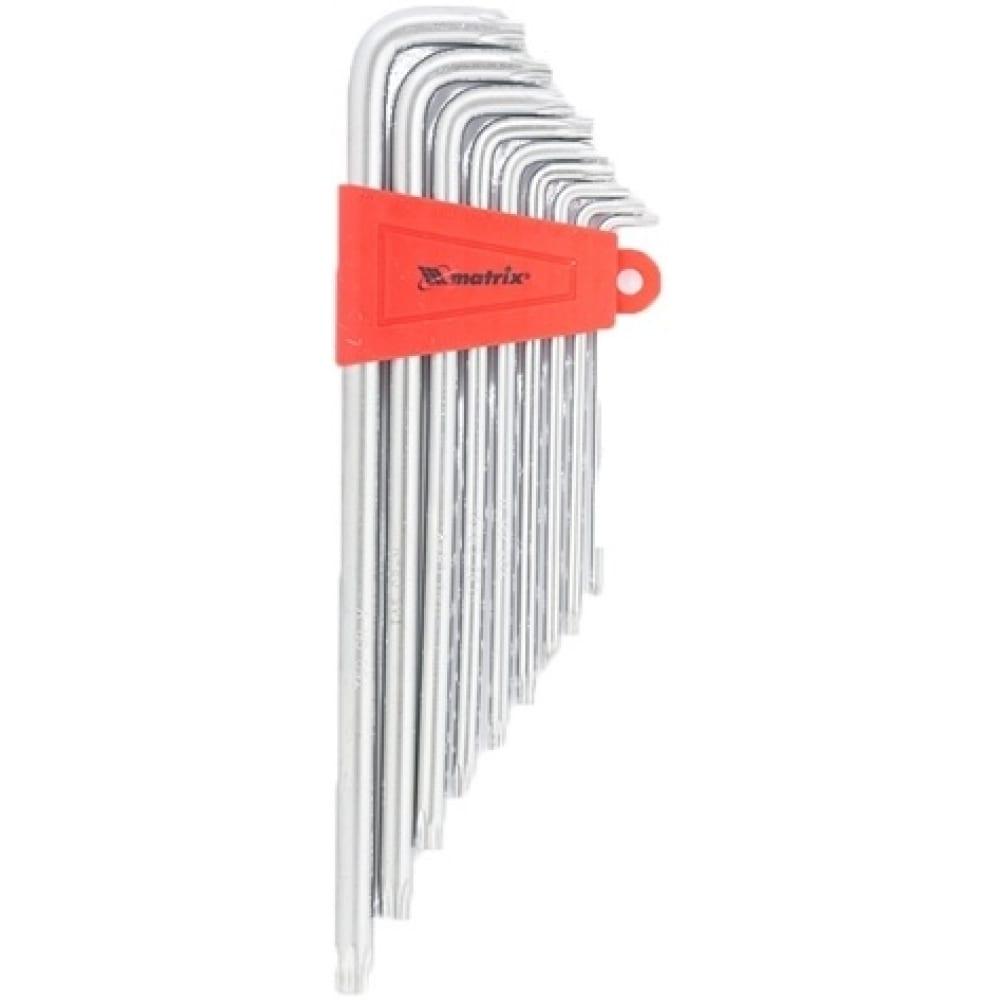 Купить Набор экстрадлинных имбусовых ключей torx, 9шт, t10-t50, crv, сатин matrix 12307