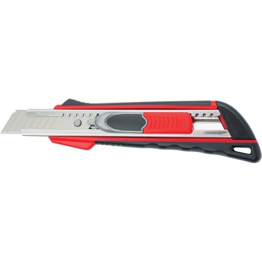 Купить Нож 18мм, выдвижное лезвие, металлическая направляющая, двойная фиксация, эргономичная двухкомпонентная рукоятка matrix quik blade 78936