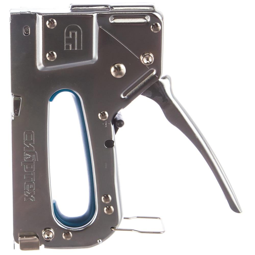 Мебельный металлический регулируемый степлер, тип скобы 53, 4-14мм сибртех 40101